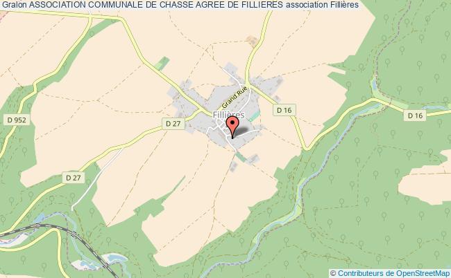 plan association Association Communale De Chasse Agree De Fillieres