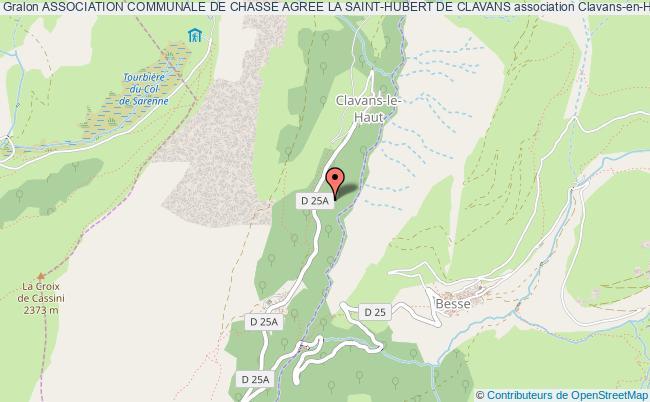 plan association Association Communale De Chasse Agree La Saint-hubert De Clavans
