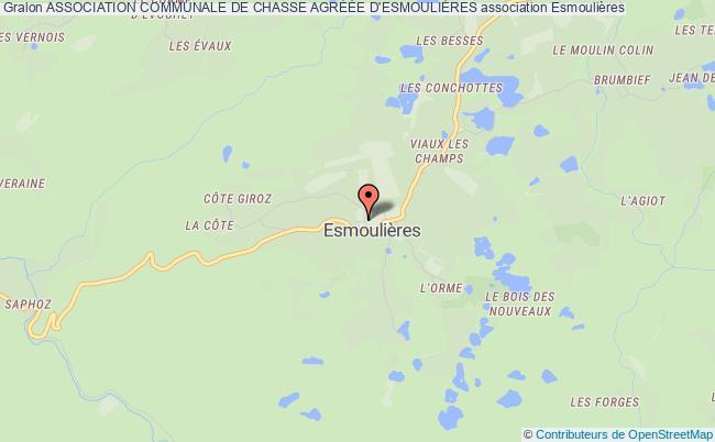 plan association Association Communale De Chasse AgrÉÉe D'esmouliÈres Esmoulières