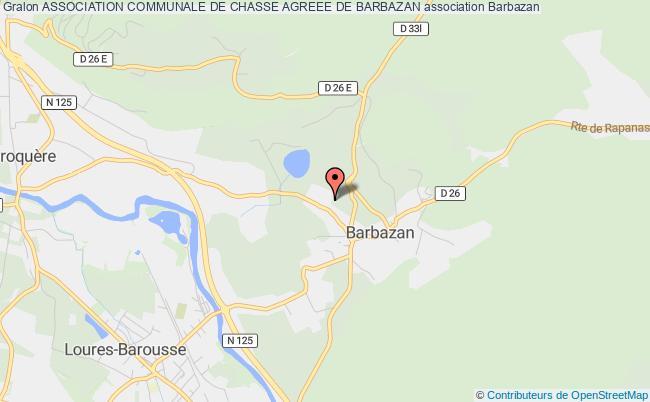 plan association Association Communale De Chasse Agreee De Barbazan