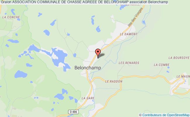 plan association Association Communale De Chasse Agreee De Belonchamp Belonchamp
