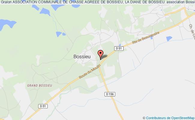 plan association Association Communale De Chasse Agreee De Bossieu, La Diane De Bossieu. Bossieu