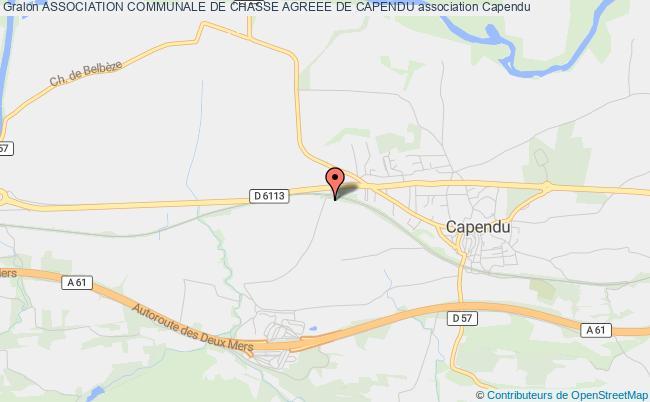 plan association Association Communale De Chasse Agreee De Capendu