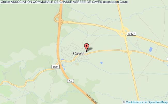 plan association Association Communale De Chasse Agreee De Caves