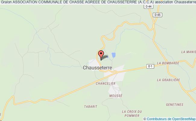 plan association Association Communale De Chasse Agreee De Chausseterre (a.c.c.a) Chausseterre
