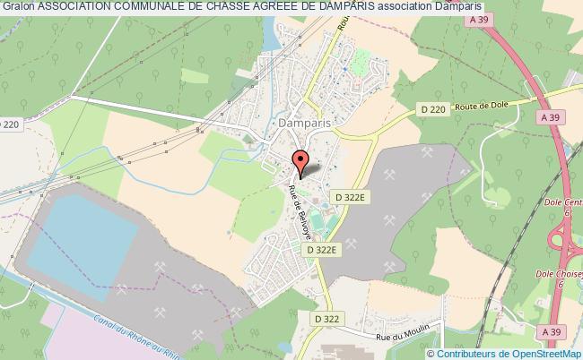 plan association Association Communale De Chasse Agreee De Damparis Damparis