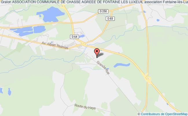 plan association Association Communale De Chasse Agreee De Fontaine Les Luxeuil