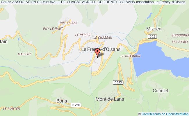 plan association Association Communale De Chasse Agreee De Freney-d'oisans