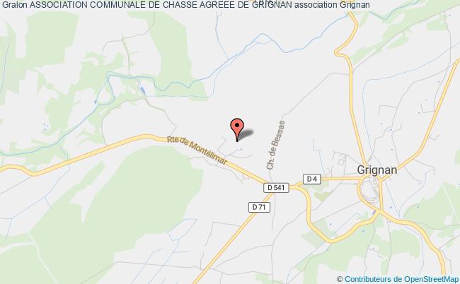 plan association Association Communale De Chasse Agreee De Grignan Grignan