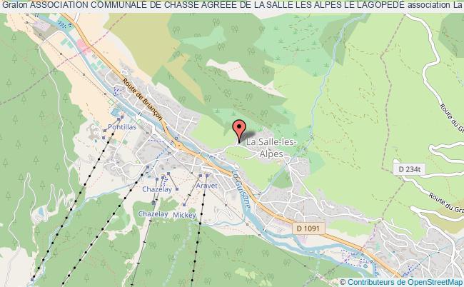 plan association Association Communale De Chasse Agreee De La Salle Les Alpes Le Lagopede