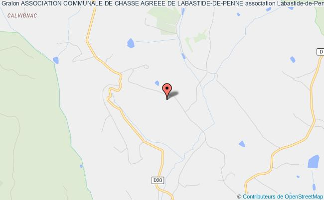 plan association Association Communale De Chasse Agreee De Labastide-de-penne