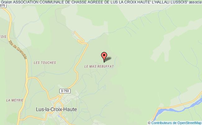 plan association Association Communale De Chasse Agreee De Lus La Croix Haute' L'hallali Lussois' Lus-la-Croix-Haute