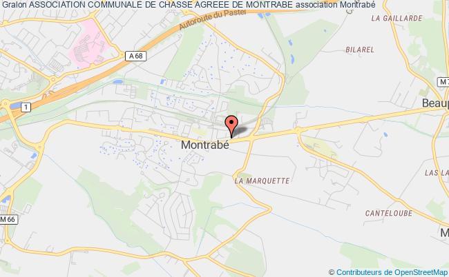 plan association Association Communale De Chasse Agreee De Montrabe Montrabé