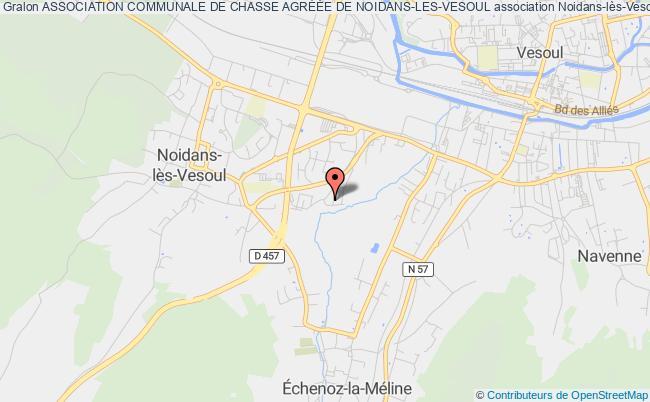 plan association Association Communale De Chasse AgrÉÉe De Noidans-les-vesoul Noidans-lès-Vesoul