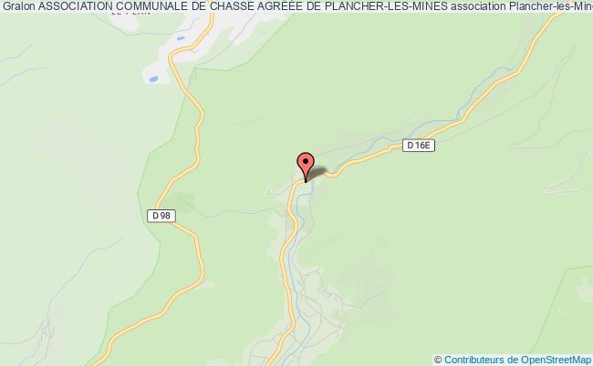 plan association Association Communale De Chasse AgrÉÉe De Plancher-les-mines Plancher-les-Mines