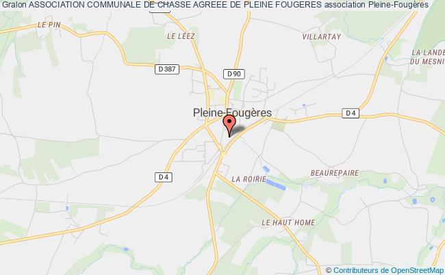 plan association Association Communale De Chasse Agreee De Pleine Fougeres Pleine-Fougères