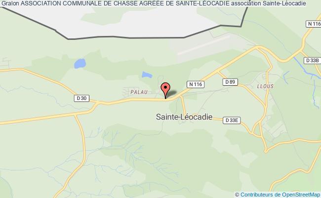 plan association Association Communale De Chasse AgrÉÉe De Sainte-lÉocadie Sainte-Léocadie