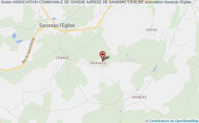 plan association Association Communale De Chasse Agreee De Sanssac L'eglise Sanssac-l'Église