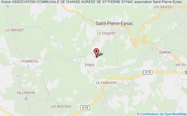 plan association Association Communale De Chasse Agreee De St Pierre Eynac Saint-Pierre-Eynac