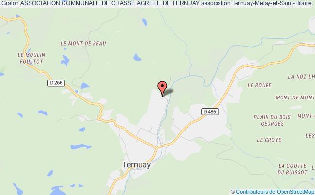 plan association Association Communale De Chasse AgrÉÉe De Ternuay Ternuay-Melay-et-Saint-Hilaire