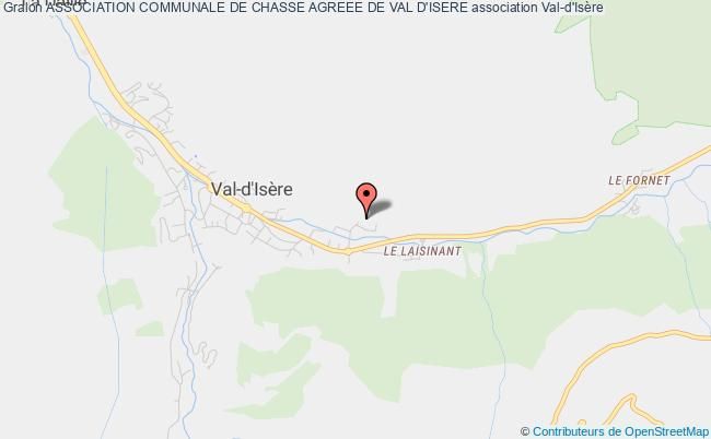 plan association Association Communale De Chasse Agreee De Val D'isere