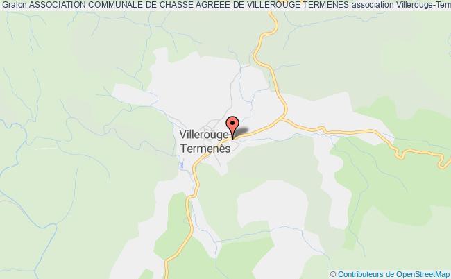 plan association Association Communale De Chasse Agreee De Villerouge Termenes Villerouge-Termenès