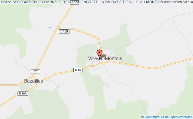 plan association Association Communale De Chasse Agreee La Palombe De Ville-au-montois