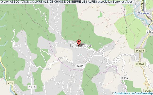 plan association Association Communale De Chasse De Berre Les Alpes Berre-les-Alpes
