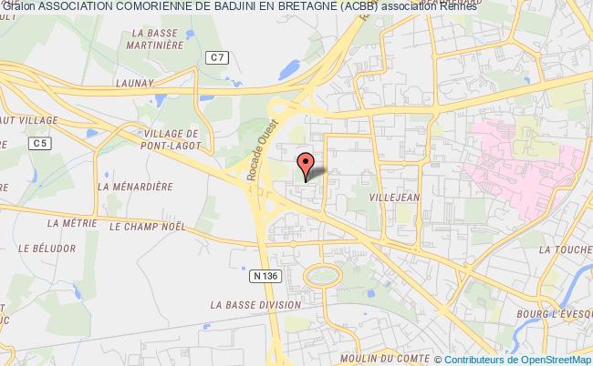 plan association Association Comorienne De Badjini En Bretagne (acbb)