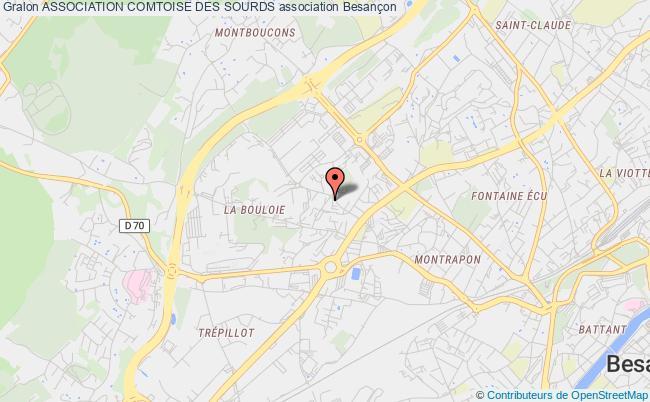 plan association Association Comtoise Des Sourds Besançon