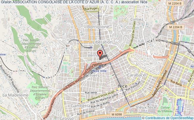 plan association Association Congolaise De La Cote D' Azur (a. C. C .a.)