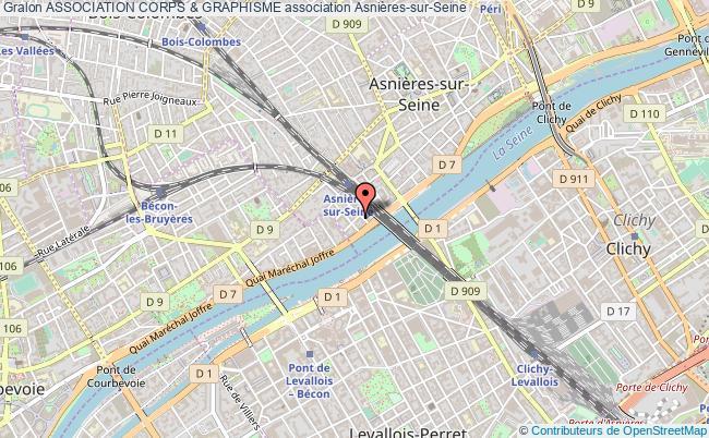 plan association Association Corps & Graphisme Asnières-sur-Seine