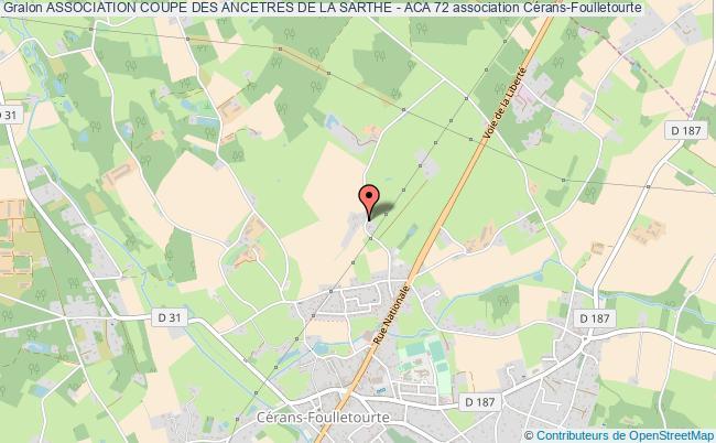 plan association Association Coupe Des Ancetres De La Sarthe - Aca 72