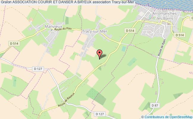 plan association Association Courir Et Danser A Bayeux Tracy-sur-Mer