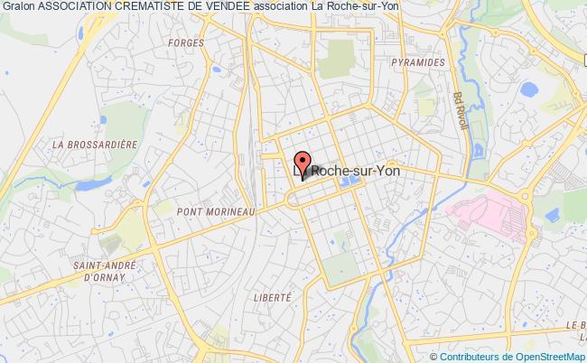 plan association Association Crematiste De Vendee La    Roche-sur-Yon