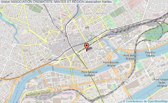 plan association Association Crematiste Nantes Et Region