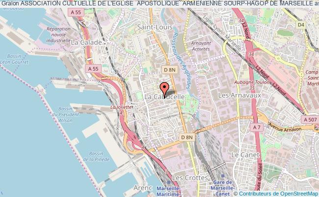 plan association Association Cultuelle De L'eglise  Apostolique  Armenienne Sourp-hagop De Marseille Marseille