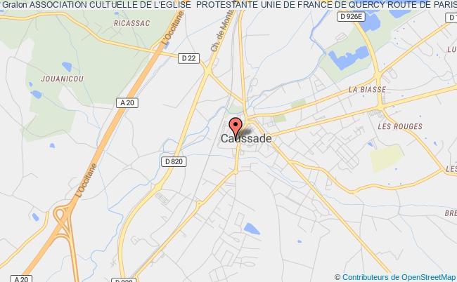 plan association Association Cultuelle De L'eglise  Protestante Unie De France De Quercy Route De Paris