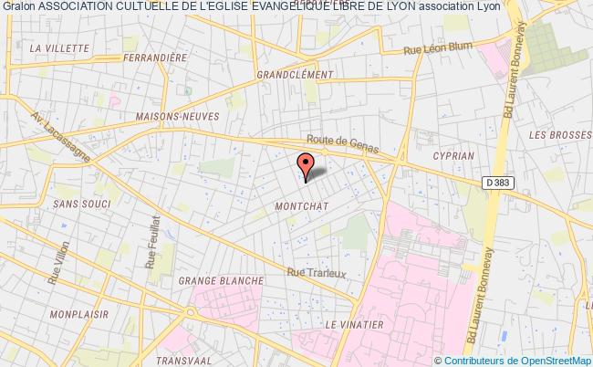 plan association Association Cultuelle De L'eglise Evangelique Libre De Lyon