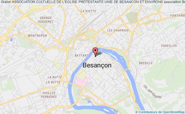 plan association Association Cultuelle De L'eglise Protestante Unie De Besancon Et Environs