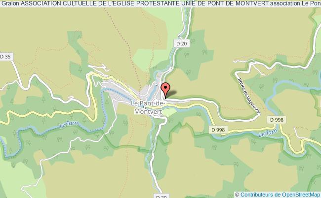 plan association Association Cultuelle De L'eglise Protestante Unie De Pont De Montvert