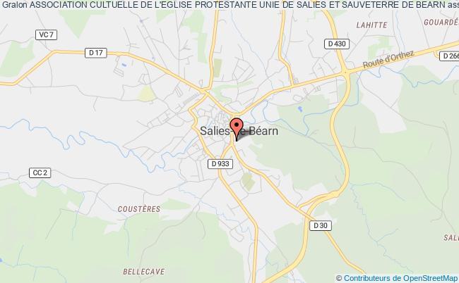 plan association Association Cultuelle De L'eglise Protestante Unie De Salies Et Sauveterre De Bearn