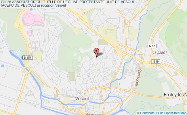 plan association Association Cultuelle De L'eglise Protestante Unie De Vesoul (acepu De Vesoul) Vesoul