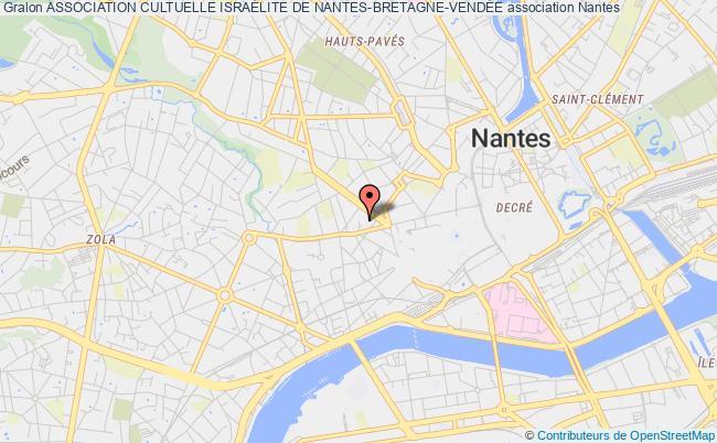plan association Association Cultuelle IsraÉlite De Nantes-bretagne-vendÉe