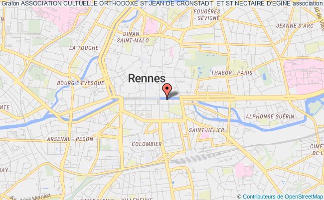 plan association Association Cultuelle Orthodoxe St Jean De Cronstadt  Et St Nectaire D'egine Rennes