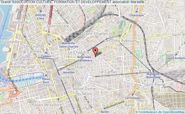 plan association Association Culture, Formation Et Developpement Marseille