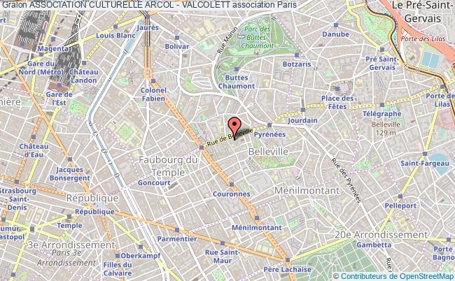 plan association Association Culturelle Arcol - Valcolett