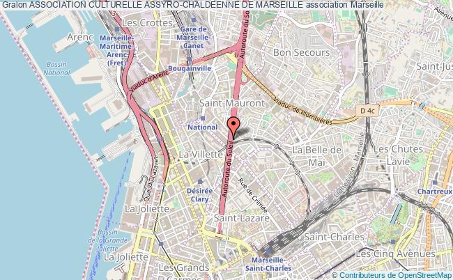 plan association Association Culturelle Assyro-chaldeenne De Marseille