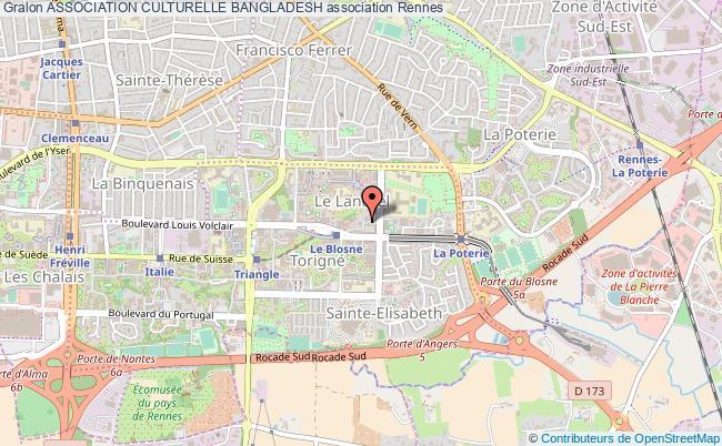 plan association Association Culturelle Bangladesh Rennes