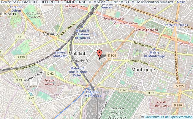 plan association Association Culturelle Comorienne De Malakoff 92 : A.c.c.m.92 Malakoff